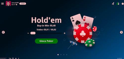 Nuovo Client Web Poker Per Sisal!